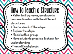 How to teach a structure